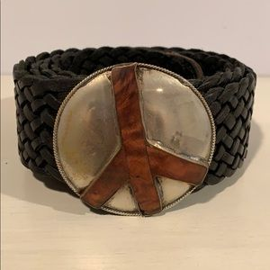 Accessories - Black Woven Leather Belt